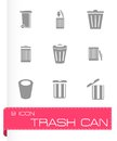 Vector Trash Icon Set Stock Images - 53867004