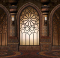 Fantasy Gothic Gate Royalty Free Stock Photo - 53871405