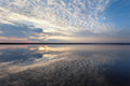Landscape With Lake Reflection Clouds. Beautiful Summer Sunset Royalty Free Stock Photo - 53888535