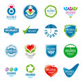 Set Of Vector Logos Insurance Royalty Free Stock Photos - 53898948
