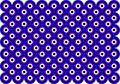 Op Art Thousand Eyes Blue Violet White Black Stock Image - 5395801