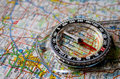 Map With Compass Stock Image - 5398351