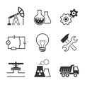 Industry Simple Vector Icon Set Royalty Free Stock Photos - 53901468