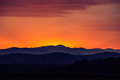Sunset Over The Mountain Royalty Free Stock Photography - 53903987