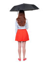 Young Woman Under An Umbrella. Royalty Free Stock Photography - 53911877