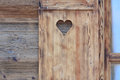 Window Blind Of A Wooden Hut With A Heart Shaped Hole Royalty Free Stock Image - 53915826
