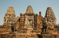 East Mebon Entrance With Towers And Lions Royalty Free Stock Image - 53915956