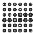 Set Of Sewing Buttons Isolated On A White Background, Sewing Accessories Stock Photos - 53937423