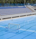 Water Polo Goal At The Outdoor Swimming Pool Royalty Free Stock Images - 53943339