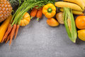 Fresh Vegetables And Fruits Royalty Free Stock Photography - 53959377