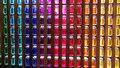 Coloured Glass Pots In A Wall Royalty Free Stock Photos - 53961738