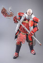 Warrior In The Armor With Axe Stock Image - 53963131