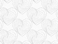 Gray Unevenly Striped Hearts Royalty Free Stock Photos - 53965048