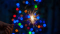 Bengal Fire Christmas Tree. Royalty Free Stock Images - 53970669
