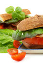 Ciabatta Bacon Sandwiches Royalty Free Stock Photo - 53987535