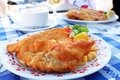 Fried Fish With Potato On The Plate Stock Photography - 5402152