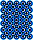 Op Art Thousand Eyes Blue Pale Blue White Black Stock Images - 5405554