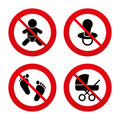 Baby Infants Icons. Buggy And Dummy Symbols Royalty Free Stock Images - 54023609