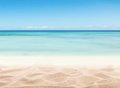 Empty Sandy Beach With Sea Royalty Free Stock Images - 54026889