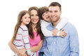 Young Family With Two Kids Royalty Free Stock Images - 54029959