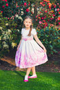 Outdoor Portrait Of A Cute Little Girl Stock Images - 54052654