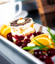 Cake On A White Plate Royalty Free Stock Photography - 54062107