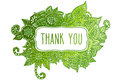 Thank You Colored Doodle Frame Stock Images - 54071094