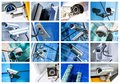 Collage Of Security Camera And Urban Video Stock Photos - 54071893