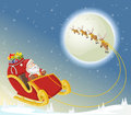 Santa Claus On Sleigh Royalty Free Stock Images - 54085019