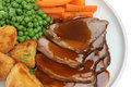 Sunday Roast Lamb Dinner Royalty Free Stock Images - 5412079