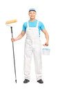 Male House Painter Holding A Paint Roller Royalty Free Stock Photography - 54105267