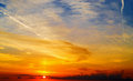 Orange, Yellow And Blue Scenic Sky At Dusk Stock Images - 54109124