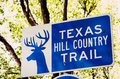 Sign For Texas Hill Country Trail Stock Images - 54116394