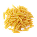 Pile Of Dry Yellow Penne Pasta Isolated Royalty Free Stock Images - 54117229