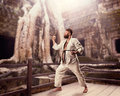 Fat Karate Fighter Stock Photo - 54147030