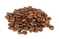 Pile Of Coffee Beans Isolated On White Background Stock Image - 54155581