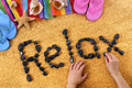 Relax Beach Writing Royalty Free Stock Photography - 54172117