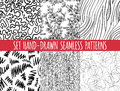 Set Of Four Seamless Abstract Hand-drawn Pattern Stock Photos - 54193303