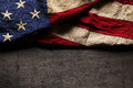 Old And Worn American Flag Stock Image - 54194621