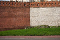 Medieval Castle Wall Of Stone And Brick Stock Image - 54201071