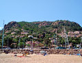 Theoule-sur-Mer Beach View From The Coastline Royalty Free Stock Photo - 54206945