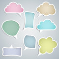 Speech Clouds Of Different Configurations Royalty Free Stock Photos - 54209638