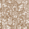 Seamless Floral Retro Doodle Grunge  Pattern In Stock Image - 54216321