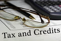Tax And Credits Stock Image - 54217861