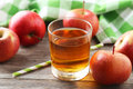 Glass Of Apple Juice Royalty Free Stock Images - 54221689