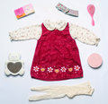 Top View Fashion Trendy Look Of Clothes And Cute Accessories For Stock Photos - 54242013