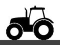 Tractor Silhouette On A White Background. Royalty Free Stock Photos - 54263188