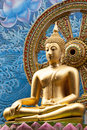 Thailand Golden Buddha Statue On A Asia Style Background Stock Photos - 54263663