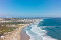 Aerial View Of Costa Caparica Coast Beach In Lisbon, Portugal Royalty Free Stock Image - 54277476