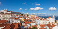 Panoramic View Of Lisbon Rooftop From Portas Do Sol Viewpoint - Stock Image - 54281211